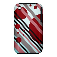 Colorful lines and circles Apple iPhone 3G/3GS Hardshell Case (PC+Silicone)