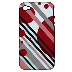 Colorful lines and circles Apple iPhone 4/4S Hardshell Case (PC+Silicone)