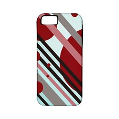 Colorful lines and circles Apple iPhone 5 Classic Hardshell Case (PC+Silicone)