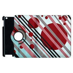 Colorful lines and circles Apple iPad 2 Flip 360 Case