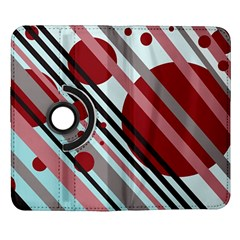 Colorful lines and circles Samsung Galaxy Note II Flip 360 Case