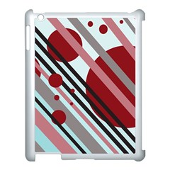 Colorful lines and circles Apple iPad 3/4 Case (White)