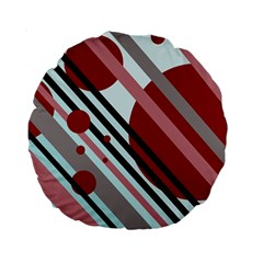 Colorful lines and circles Standard 15  Premium Round Cushions