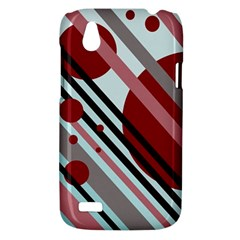 Colorful lines and circles HTC Desire V (T328W) Hardshell Case