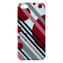 Colorful lines and circles Apple iPhone 5 Premium Hardshell Case