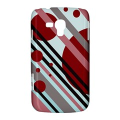 Colorful lines and circles Samsung Galaxy Duos I8262 Hardshell Case