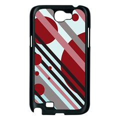 Colorful lines and circles Samsung Galaxy Note 2 Case (Black)