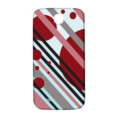 Colorful lines and circles Samsung Galaxy S4 I9500/I9505  Hardshell Back Case