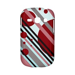 Colorful lines and circles Samsung Galaxy S6810 Hardshell Case