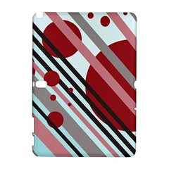 Colorful lines and circles Samsung Galaxy Note 10.1 (P600) Hardshell Case