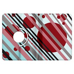 Colorful lines and circles Kindle Fire HDX Flip 360 Case