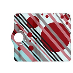 Colorful lines and circles Kindle Fire HDX 8.9  Flip 360 Case