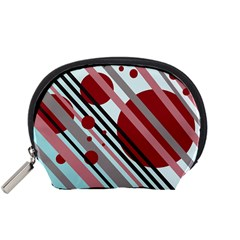Colorful lines and circles Accessory Pouches (Small)