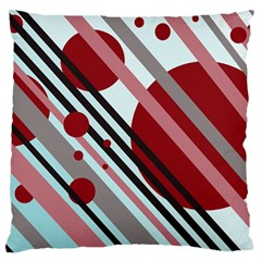 Colorful lines and circles Standard Flano Cushion Case (Two Sides)
