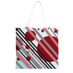 Colorful lines and circles Grocery Light Tote Bag