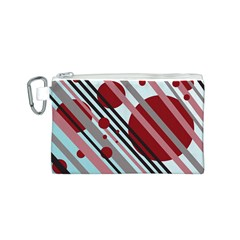 Colorful lines and circles Canvas Cosmetic Bag (S)