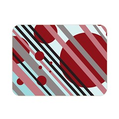 Colorful lines and circles Double Sided Flano Blanket (Mini)