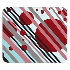 Colorful lines and circles Double Sided Flano Blanket (Small)