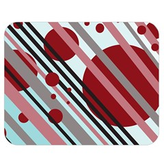 Colorful Lines And Circles Double Sided Flano Blanket (medium)