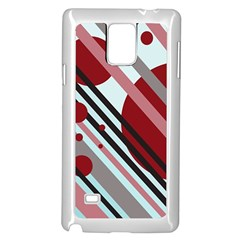 Colorful lines and circles Samsung Galaxy Note 4 Case (White)