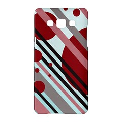 Colorful lines and circles Samsung Galaxy A5 Hardshell Case