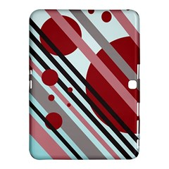 Colorful lines and circles Samsung Galaxy Tab 4 (10.1 ) Hardshell Case