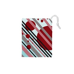 Colorful Lines And Circles Drawstring Pouches (xs)