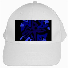 Deep blue abstraction White Cap