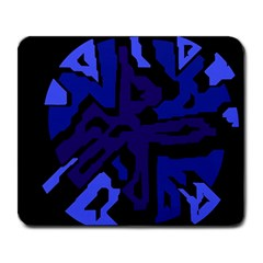 Deep blue abstraction Large Mousepads
