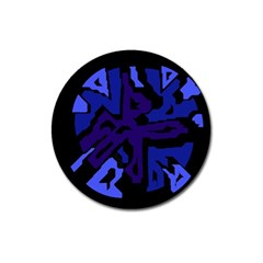 Deep blue abstraction Magnet 3  (Round)