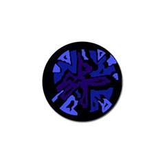 Deep blue abstraction Golf Ball Marker (4 pack)