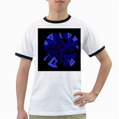 Deep blue abstraction Ringer T-Shirts