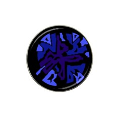 Deep blue abstraction Hat Clip Ball Marker (4 pack)