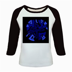 Deep blue abstraction Kids Baseball Jerseys