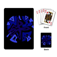 Deep blue abstraction Playing Card