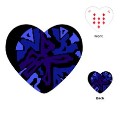 Deep blue abstraction Playing Cards (Heart)