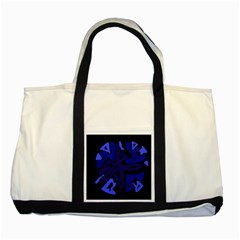 Deep blue abstraction Two Tone Tote Bag