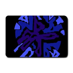 Deep blue abstraction Small Doormat