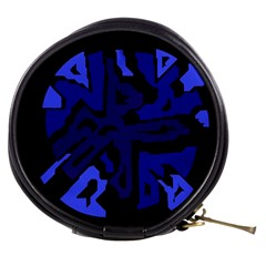 Deep blue abstraction Mini Makeup Bags