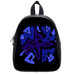 Deep blue abstraction School Bags (Small)