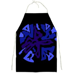 Deep blue abstraction Full Print Aprons