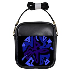 Deep blue abstraction Girls Sling Bags