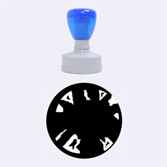 Deep blue abstraction Rubber Round Stamps (Medium)