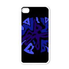 Deep blue abstraction Apple iPhone 4 Case (White)