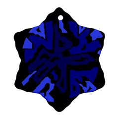 Deep blue abstraction Ornament (Snowflake)
