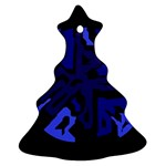 Deep blue abstraction Ornament (Christmas Tree) Front