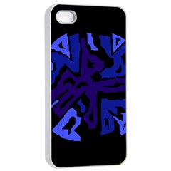 Deep blue abstraction Apple iPhone 4/4s Seamless Case (White)