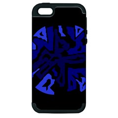 Deep blue abstraction Apple iPhone 5 Hardshell Case (PC+Silicone)
