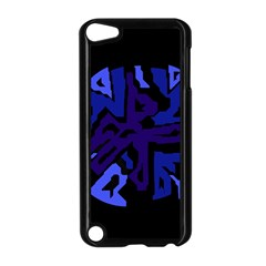 Deep blue abstraction Apple iPod Touch 5 Case (Black)