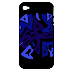 Deep blue abstraction Apple iPhone 4/4S Hardshell Case (PC+Silicone)